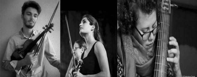 Gabriele Cervia (violino barocco), Giulia Manfredini (violino barocco) e Carolina Eguez (viola da gamba).
